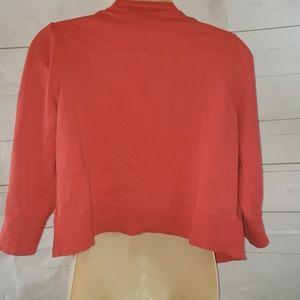 Ann Taylor Tops - Ann Taylor Orange Shrug Jacket sz L  (NWT)